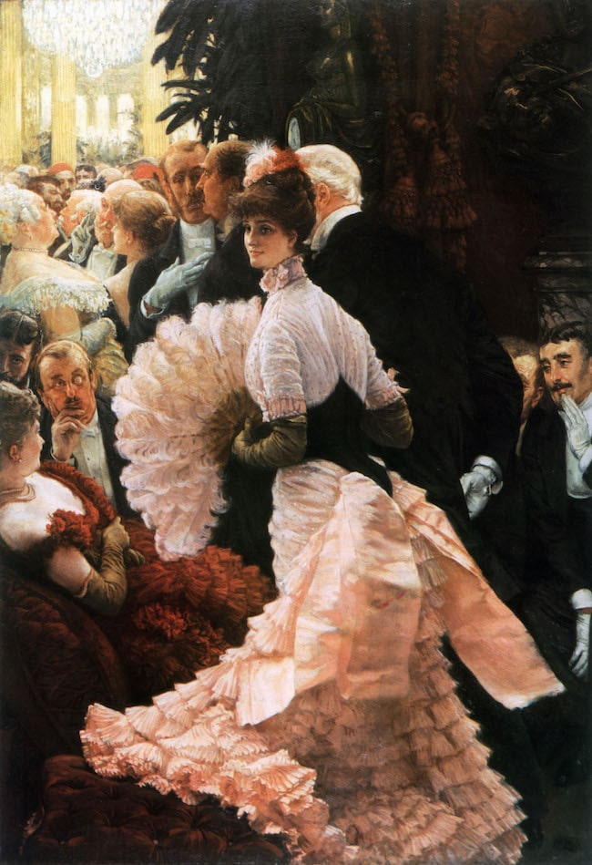 James Tissot, The Woman of Ambition (The Politician) or The Reception, from the series Women in Paris, 1885 or 1886, oil on canvas, Albright-Knox Gallery, Buffalo, NY.  Public Domain: Wikipedia