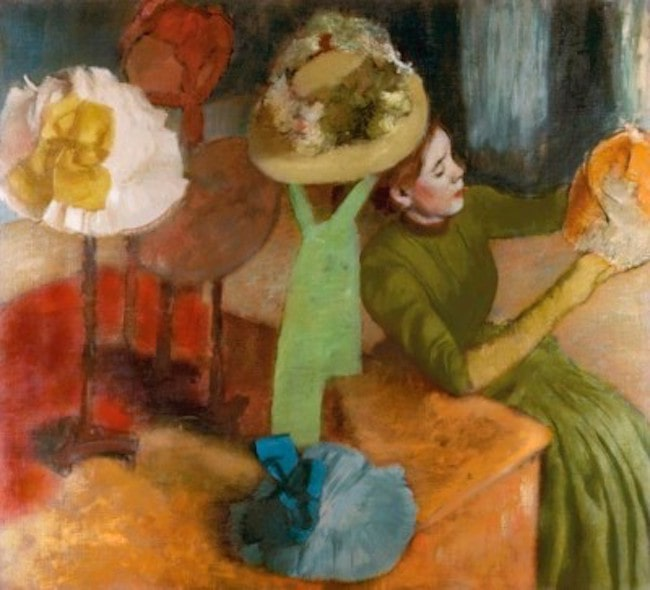Edgar Degas, At the Millinery Shop, 1879/86, oil on canvas, Art Institute of Chicago. Public Domain: Wikipedia/Google Art Project