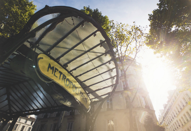 Paris Moments: Photo of the Month, Hector Guimard-Designed Metro