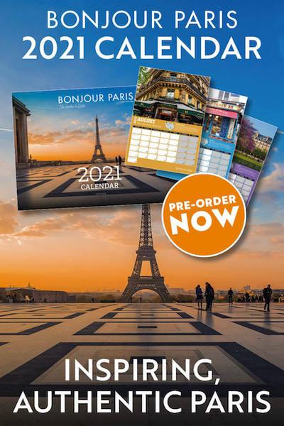Bonjour Paris 2020 calendar