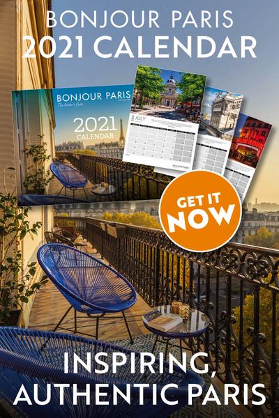 Bonjour Paris 2021 calendar, GET IT NOW