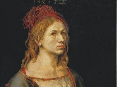Albrecht Dürer, Portrait de l'artiste tenant un chardon