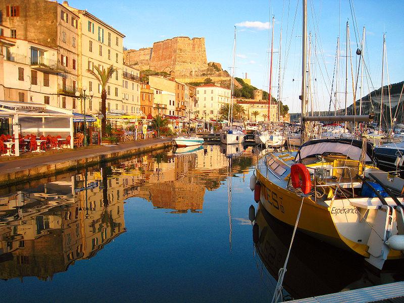 Port in Fazzio, Corsica. Photo Credit: Wikimedia Commons/Matthieu Faure