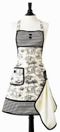 Jessie Steele French Toile apron & towel set