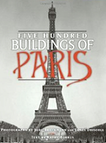 book cover, Five Hundred Buildings of Paris
