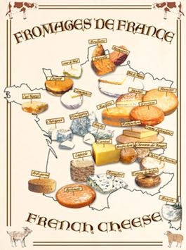 Fromages de France poster from Amazon.com