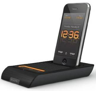 XtremeMac 3-in-One Microdock Charging Audio Dock with Alarm Clock for iPod and iPhone