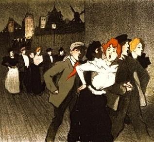 Le Chat Noir patrons by Toulouse-Lautrec