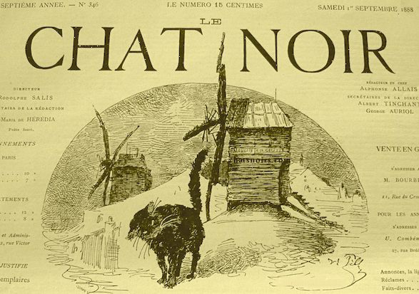 Le Chat Noir Journal, circa 1888, a weekly four-page pamphlet