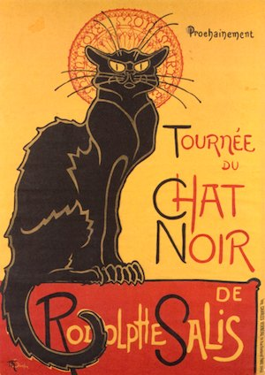 """""""La tournée du Chat Noir avec Rodolphe Salis,"""" Steinlen's famous poster"""