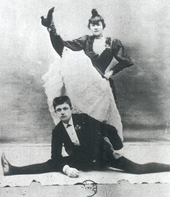 La Gouloue & Valentin, Moulin Rouge dancers. Public domaine photo.