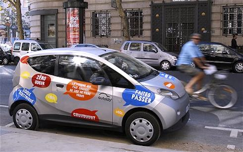 Reuters photo of Autolib' car in Paris.