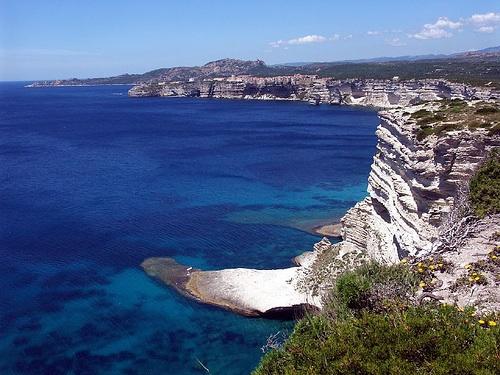 View from the Ciiffs in Bonifacio, Corsica. Photo Credit: Flicker Creative Commons/sramses177