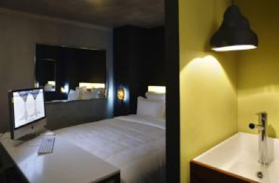 Philippe Starck-designed hip Mama Shelter hotel in Paris 20eme