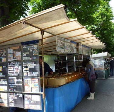 antique postcard flea market booth    Photo credit: Philippa Campsie