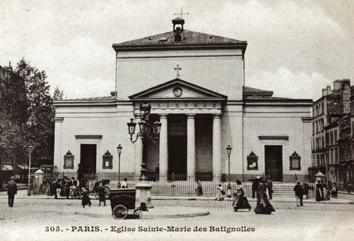 Sainte-Marie des Batignolles, circa 1900. Public domain image.