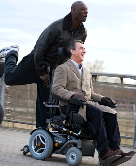 "François Cluzet and Omar Sy in movie still from ""Intouchables."" Publicity image courtesy of Gaumont France."