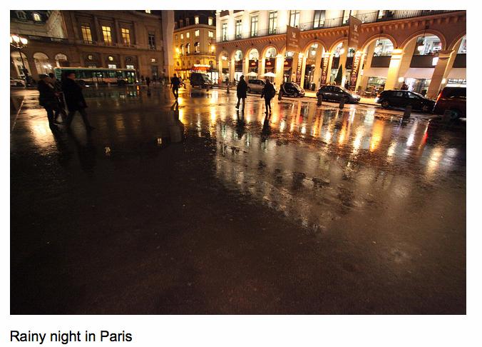 Rainy Night in Paris ©Robert Scoble