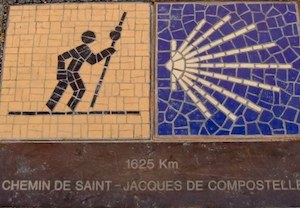 Pilgrim's walk directional ground tiles