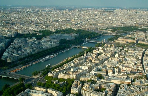 Seine as viewed from the Eiffel Tower.