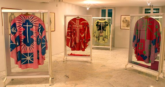 Vestements displayed at Les Dominicaines du Rosaire. Photo: Lawrence Chard