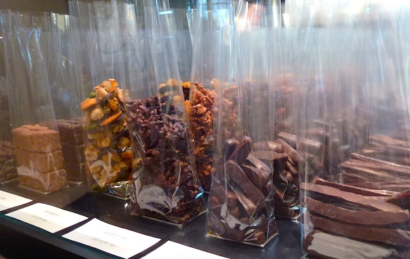 Bagged chocolates at Jacques Genin chocolate boutique. Photo by Jacqui Guglielmino
