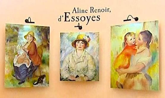 Renoir paintings displayed in Renoir Cultural Center, Essoyes   Photo: France3