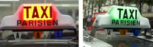 New taxi signs. Photo: Paris Mayor/City of Paris.