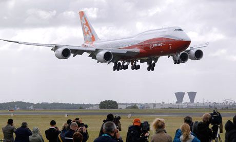 Boeing-747-8 arrives at Paris Air Show ©Pascal Rossignol-Reuters