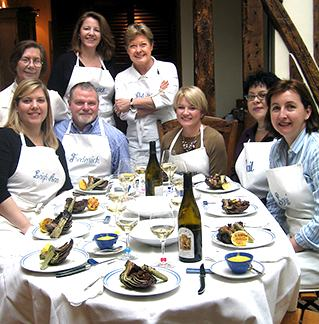 Patricia Wells at her Paris cooking school photo courtesy Patricia Wells