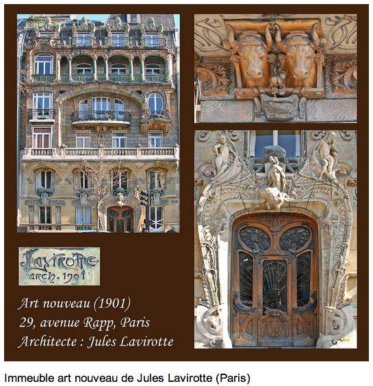 Lavirotte art nouveau building at 29, av Rapp, 7eme. Photo: dalbera