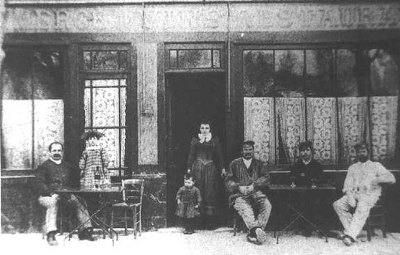 Auberge Ravoux, circa 1890. Public domaine.
