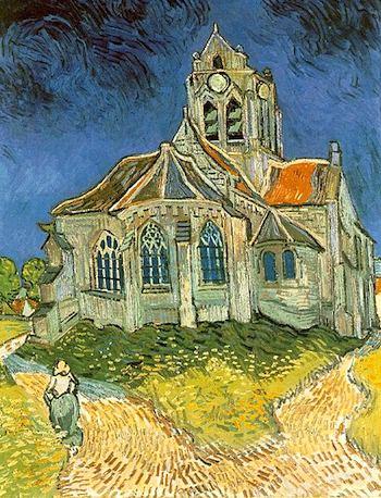 """Van Gogh painting, """"L'église Notre-Dame d'Auvers"""""""