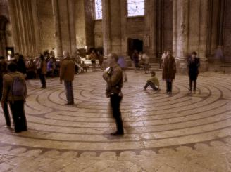 Slowly, silently walking the Chartres labrynth.