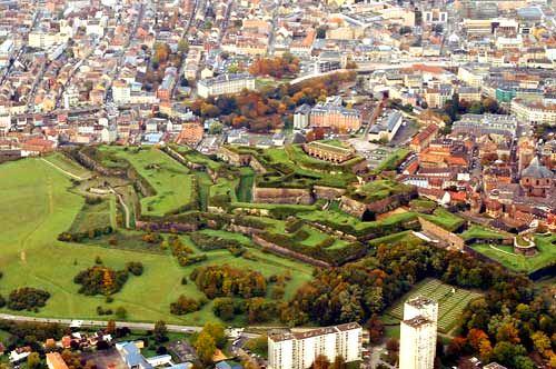 Aerial view of Belfort citadel & city. Photo ©Gilbert Mercier