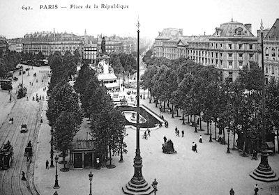Place de la Republique circa 1900. Public domain image.