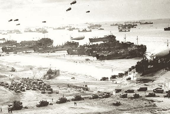 Omaha Beach, Operation Overlord, 1944. Public domain.