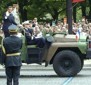 President Sarkozy at 2007 military parade.  Photo credit: ©kasia_jot
