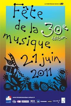 Fête de la Musique 2011 poster