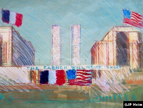 Event rendering ©JP Heim, co-president & co-founder, The French Will Never Forget