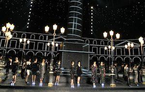 Chanel set at Paris Fashion Week   Photo: Francois Mori & AP