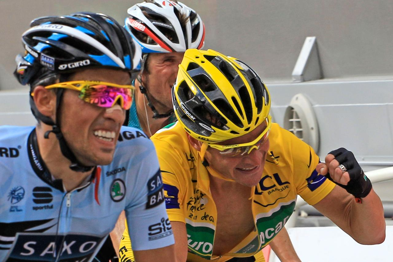 Thomas Voeckler wins Stage 14  Photo: AP-Peter Dejong