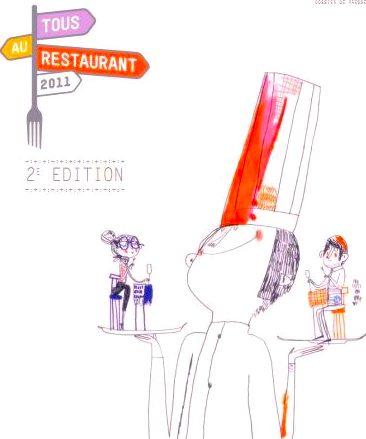 Tous au restaurant poster, 2011 Fête de la gastronomique