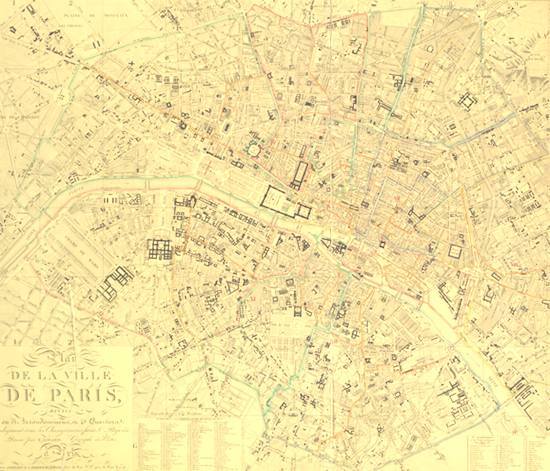 City of Paris in 1843    Public domaine map, source: Wikimedia