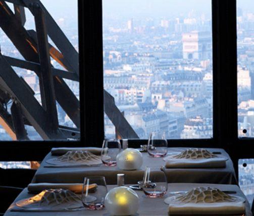 Le Jules Verne at the Eiffel Tower. Publicity photo ©Alain Ducasse Restaurants.