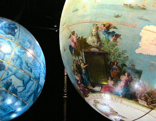 Detail of Coronelli Globes. Photo: Top a Nice