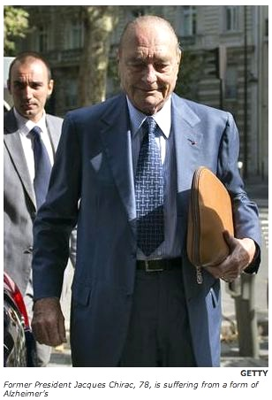 Former President J. Chirac. Photo: Getty-Independent