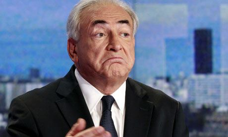 DSK on Sep. 18, 2011 TV interview. Photo ©Sipa Press-Rex Features