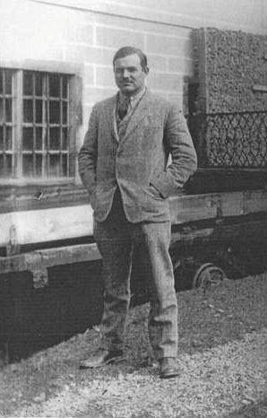 Ernest Hemingway on rue Notre-Dame-des-Champs, Paris