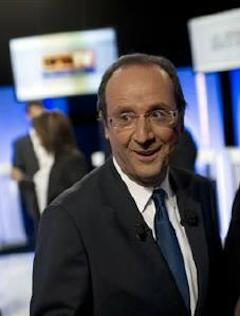 Socialist frontrunner Hollande on Oct. 11, 2011. Photo: Reuters